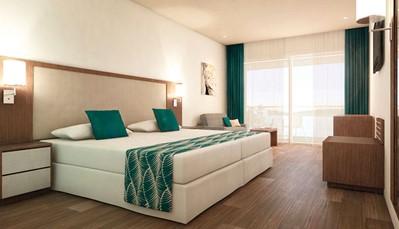 """<div style=""""text-align: justify;"""">Alle 264kamers beschikken over een badkamer (haardroger), centrale airco, plafondventilator, telefoon, wifi (gratis), satelliet-tv, minibar (gratis), safe (gratis) en zeezicht.Bovendien kan je kiezen tussen verschillende soorten verblijven:verblijven met een ligging op het eiland en dejunior suites met een ligging boven de zee, ideaal voor diegenen die van een vakantie in alle luxe willen genieten.</div>"""