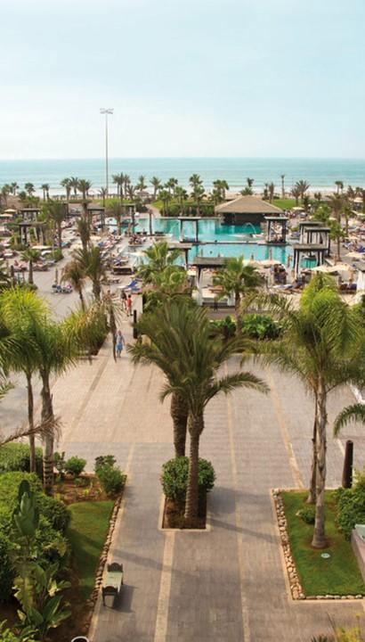 5* RIU hotel aan het strand en de promenade van Agadir