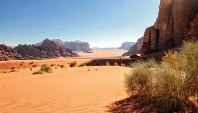 Over Wadi Rum